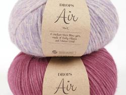 Acheter Laine Drops - Air - 24 rose tendre (uni) - 5,60€ en ligne sur La Petite Epicerie - Loisirs créatifs