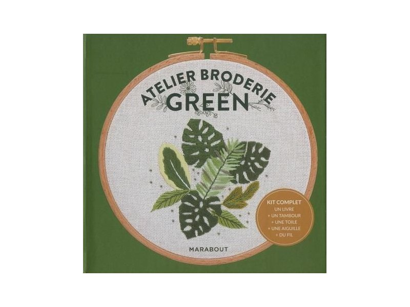 Acheter Kit Atelier Broderie Green - Marabout - 9,95€ en ligne sur La Petite Epicerie - 100% Loisirs créatifs