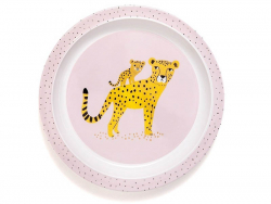 Acheter Assiette creuse en mélamine léopards - rose - 7,29€ en ligne sur La Petite Epicerie - 100% Loisirs créatifs