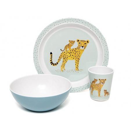 Acheter Assiette creuse en mélamine léopards - bleu - 7,29€ en ligne sur La Petite Epicerie - Loisirs créatifs