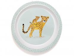 Acheter Assiette creuse en mélamine léopards - bleu - 7,29€ en ligne sur La Petite Epicerie - 100% Loisirs créatifs