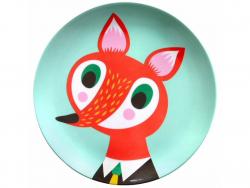 Acheter Assiette plate en mélamine - renard - 6,59€ en ligne sur La Petite Epicerie - Loisirs créatifs