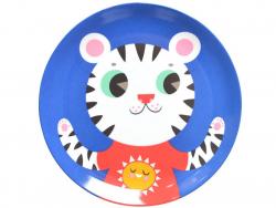 Acheter Assiette plate en mélamine - tigre - 6,59€ en ligne sur La Petite Epicerie - Loisirs créatifs