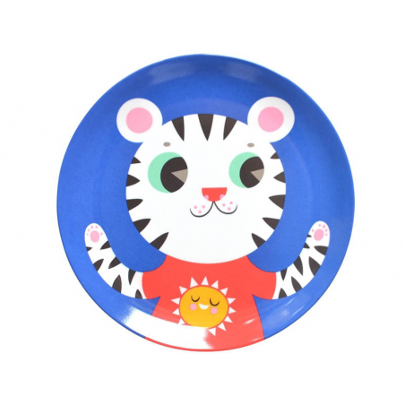 Acheter Assiette plate en mélamine - tigre - 6,59€ en ligne sur La Petite Epicerie - 100% Loisirs créatifs