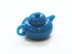 Théière bleue