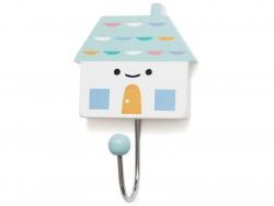 Acheter Patère maison en bois - bleu - 3,79€ en ligne sur La Petite Epicerie - 100% Loisirs créatifs