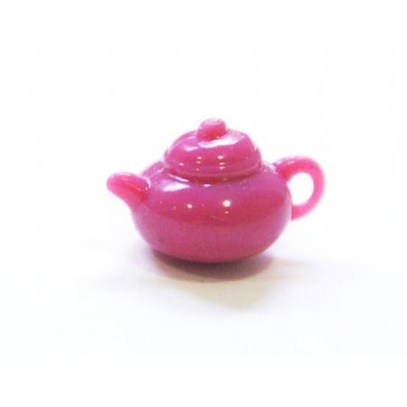Théière rose pale - pour vitrines miniatures et bijoux gourmands  - 1
