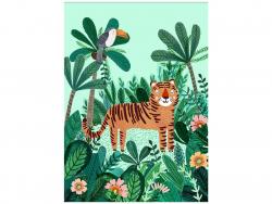 Acheter Carte postale - Tigre et Toucan - 1,29€ en ligne sur La Petite Epicerie - Loisirs créatifs