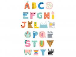 Acheter Poster alphabet mignon - 15,69€ en ligne sur La Petite Epicerie - Loisirs créatifs