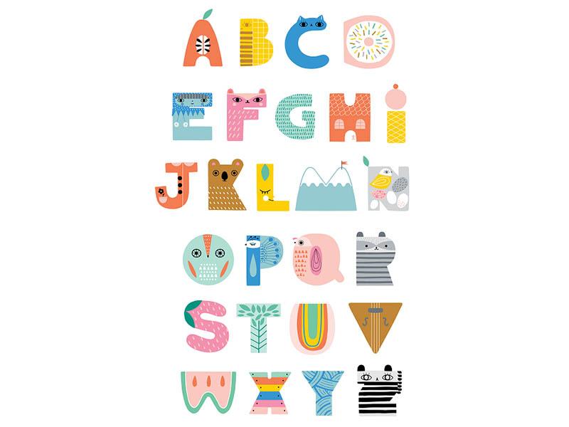 Acheter Poster alphabet mignon - 15,69€ en ligne sur La Petite Epicerie - 100% Loisirs créatifs