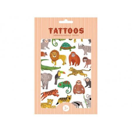 Acheter Planches de tatouages - Animaux de la jungle - 7,59€ en ligne sur La Petite Epicerie - Loisirs créatifs