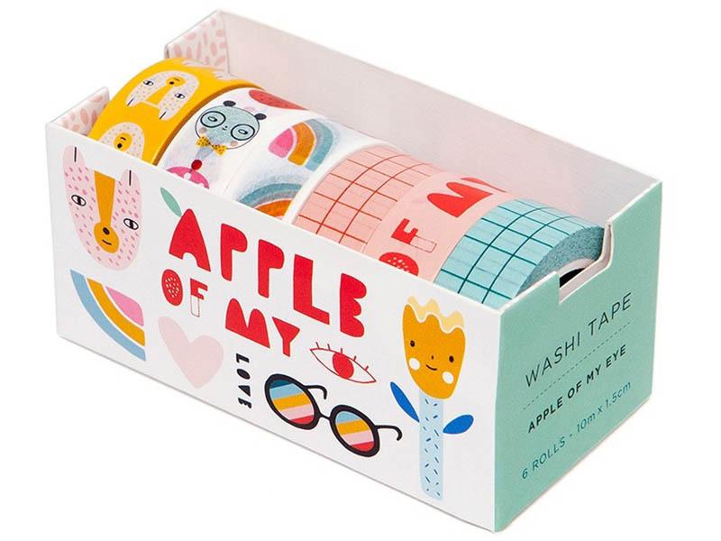 Acheter Lot de 6 washi tapes - Apple of my eye - 15,69€ en ligne sur La Petite Epicerie - Loisirs créatifs