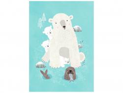 Acheter Carte postale - Animaux de la banquise - 1,29€ en ligne sur La Petite Epicerie - Loisirs créatifs