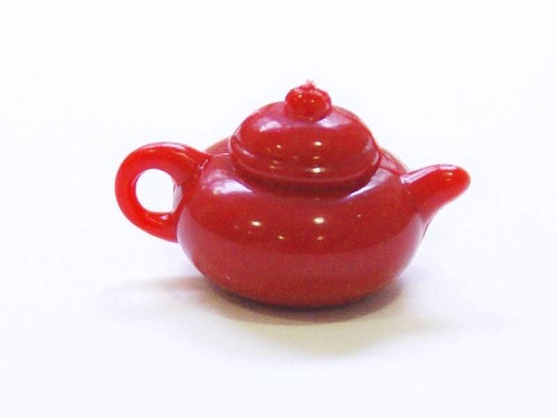 Acheter Théière rouge - pour vitrines miniatures et bijoux gourmands - 0,59€ en ligne sur La Petite Epicerie - Loisirs créatifs