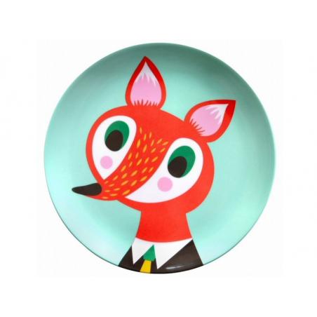 Acheter Assiette plate en mélamine - renard - 6,59€ en ligne sur La Petite Epicerie - 100% Loisirs créatifs