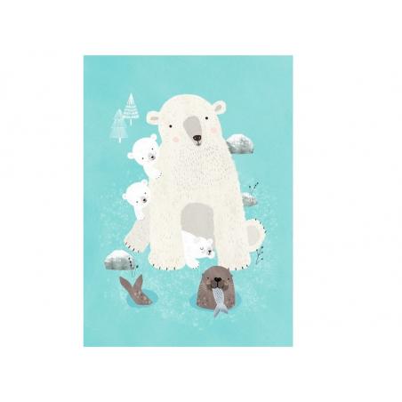 Acheter Carte postale - Animaux de la banquise - 1,29€ en ligne sur La Petite Epicerie - 100% Loisirs créatifs
