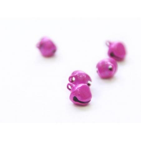 1 petit grelot en métal - rose nacré