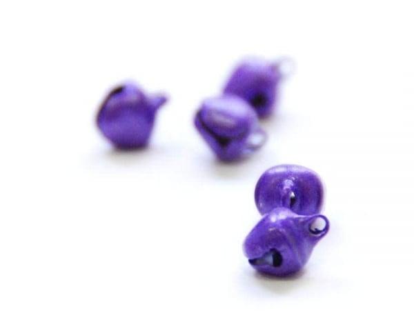 1 petit grelot en métal - violet nacré  - 1