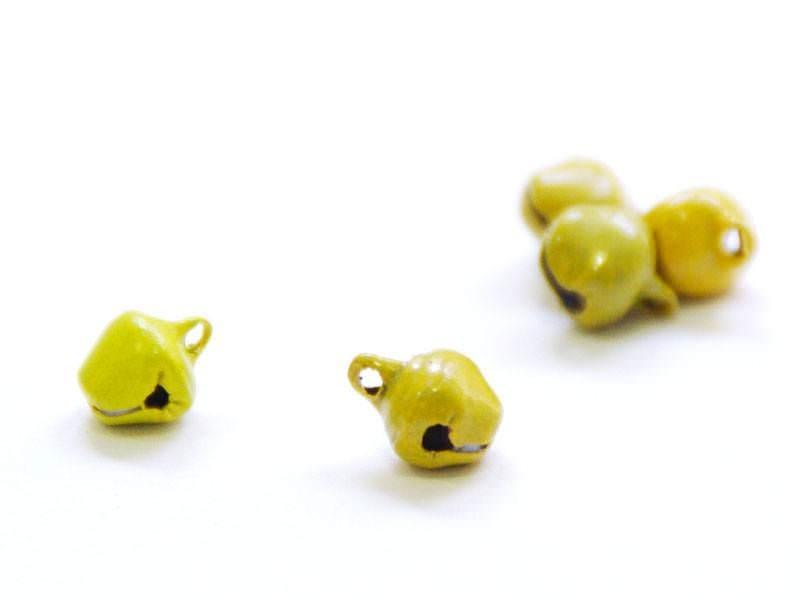1 metal sleigh bell - Matte yellow
