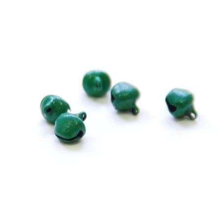 1 metal sleigh bell - Matte green