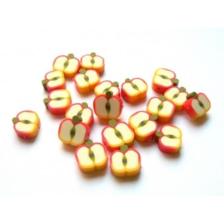 Acheter 20 perles pommes en pâte fimo - modelage - 1,99€ en ligne sur La Petite Epicerie - Loisirs créatifs