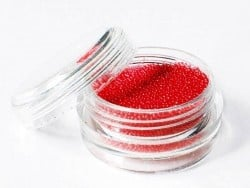 Microbilles rouge bordeaux translucide  - 1