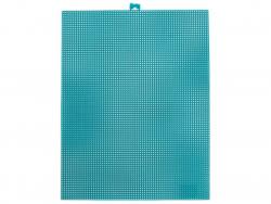 Acheter Canevas plastique Bargello - Bleu paon - 26,5 x 34 cm - 2,99€ en ligne sur La Petite Epicerie - Loisirs créatifs