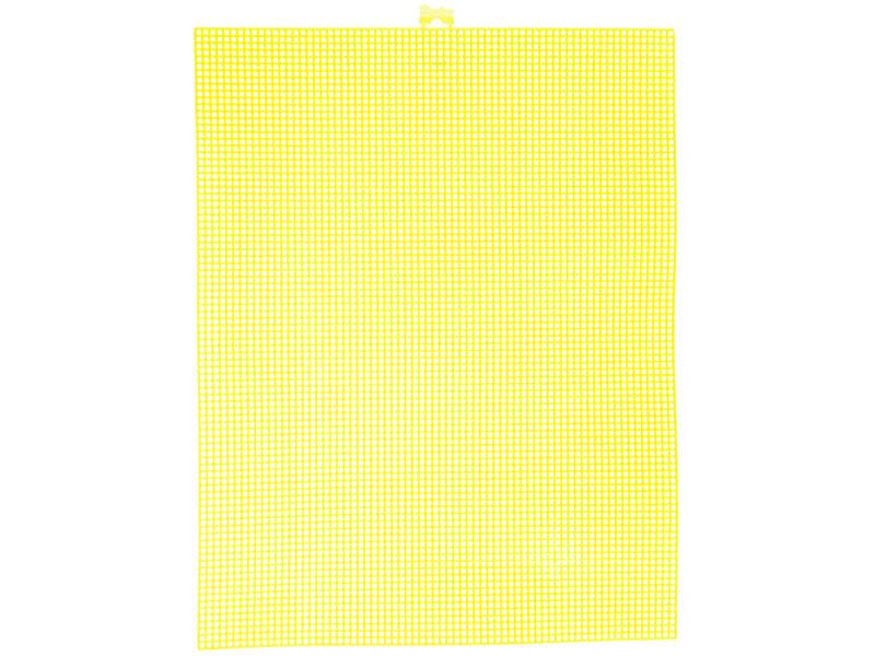 Acheter Canevas plastique Bargello - Jaune néon - 26,5 x 34 cm - 2,99€ en ligne sur La Petite Epicerie - 100% Loisirs créatifs