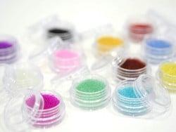 Translucent microbeads set - 12 different colours