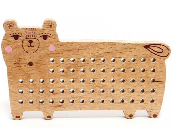 Acheter Ours en bois à broder - 17,99€ en ligne sur La Petite Epicerie - Loisirs créatifs