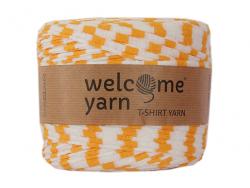 Acheter Grande bobine de fil trapilho - blanc à rayures jaunes - 7,90€ en ligne sur La Petite Epicerie - 100% Loisirs créatifs