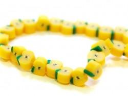 20 perles pommes jaune