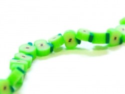20 green apple beads
