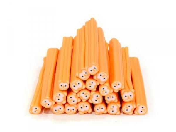 Teddy cane - neon orange