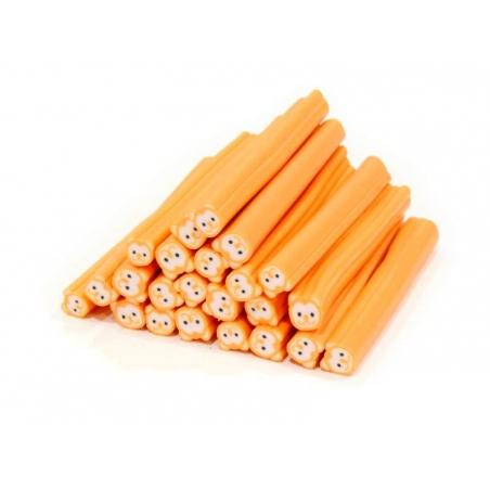 Cane ourson orange fluo - en pâte fimo