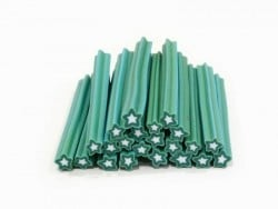 Cane étoile bleu-vert- en pâte fimo - à trancher  - 1