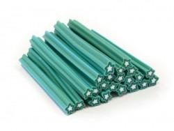 Cane étoile bleu-vert- en pâte fimo - à trancher