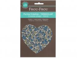 Acheter Coeur thermocollant fleuri - 15 - 3,25€ en ligne sur La Petite Epicerie - 100% Loisirs créatifs