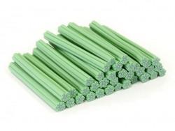 Cane fleur vert clair en pâte polymère