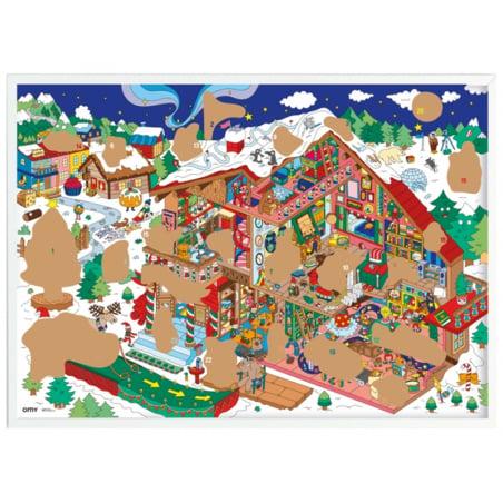 Acheter Poster géant en papier à colorier - CALENDRIER DE L'AVENT GEANT A GRATTER - 9,99€ en ligne sur La Petite Epicerie - ...
