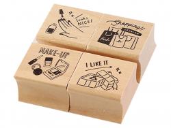 Acheter Lot de 4 tampons - Girls - 4,99€ en ligne sur La Petite Epicerie - Loisirs créatifs