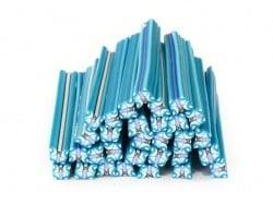 Acheter Cane papillon bleu turquoise en pâte polymère - 0,99€ en ligne sur La Petite Epicerie - Loisirs créatifs