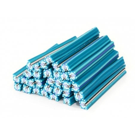 Butterfly cane - blue and turquoise