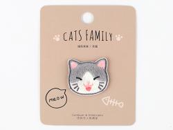 Acheter Patch thermocollant - Petit chat kawaii gris - 2,99€ en ligne sur La Petite Epicerie - 100% Loisirs créatifs