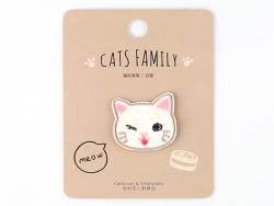 Acheter Patch thermocollant - Petit chat kawaii blanc - 2,99€ en ligne sur La Petite Epicerie - 100% Loisirs créatifs
