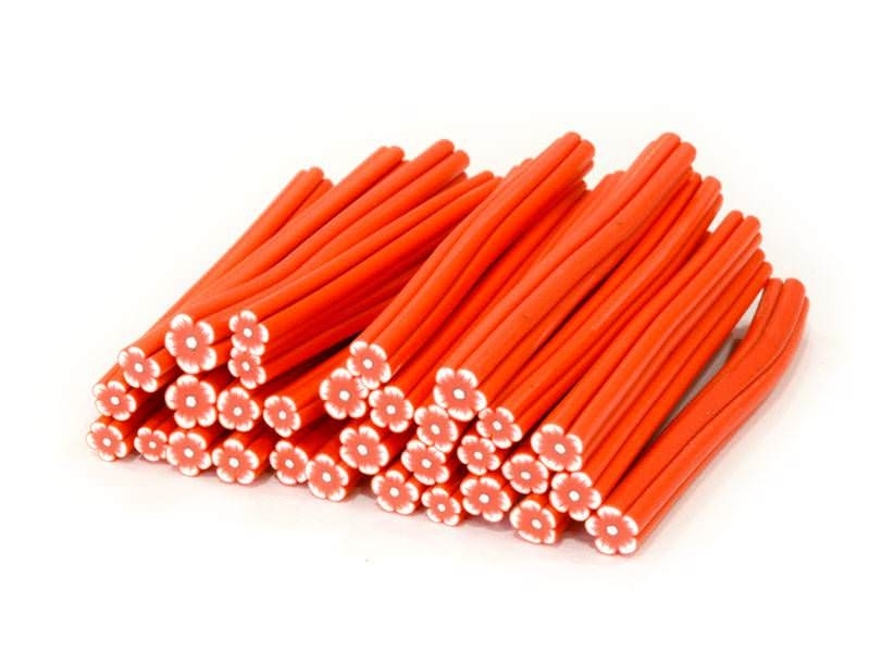 Flower cane - red and orange