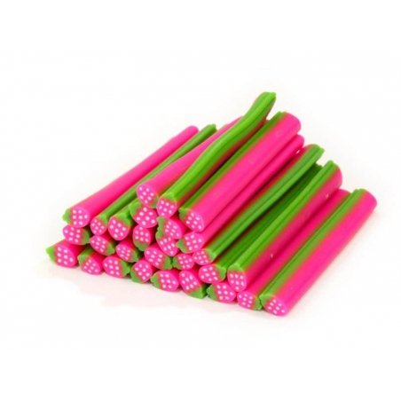 Strawberry cane - neon pink