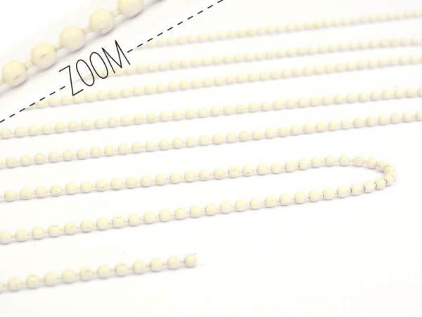 Off-white ball chain (1 m) - 1.5 mm