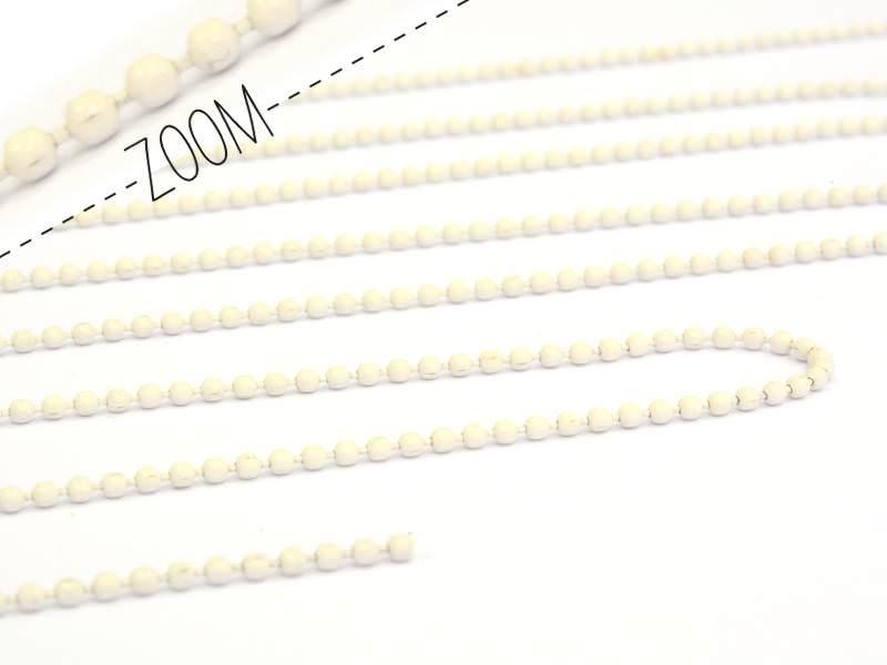 1m chaine bille - blanc cassé 1,5 mm  - 1
