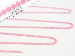Acheter Chaine bille 1,5 mm rose mat x 20 cm - 0,39€ en ligne sur La Petite Epicerie - 100% Loisirs créatifs